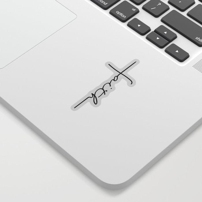 Faith Cross Sticker
