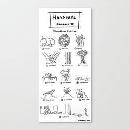 Hannibal - Season 2: Bloodless Edition! Canvas Print