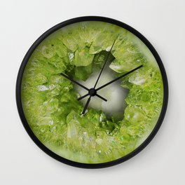 Heart of Stone Peridot Geode Wall Clock
