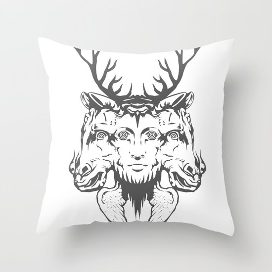 GOD II Throw Pillow