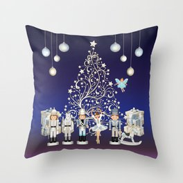 Christmas time - Nutcracker Story on Christmas eve Throw Pillow