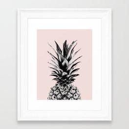 Pineapple in pink Framed Art Print
