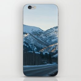 Winter Road iPhone Skin