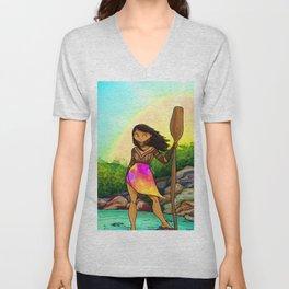 Embera girl Unisex V-Neck