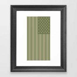 Camo Stars and Stripes – USA Flag in Military Camouflage Colors [FalseFlag 1] Framed Art Print