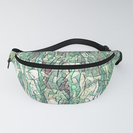Abstract green Fanny Pack