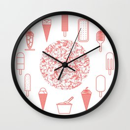 Ice creams (alternate version) Wall Clock