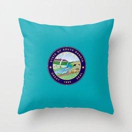 South Dakota Seal Throw Pillow