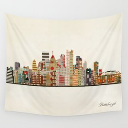 pittsburgh skyline Wall Tapestry