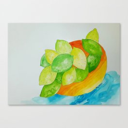 Lime Bowl Canvas Print