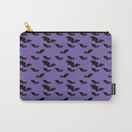 Batty purple Carry-All Pouch