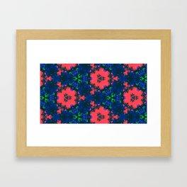 Bonnets & Coral Framed Art Print