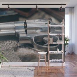 Closeup of powerful handgun. Pistol Revolver Handgun Wall Mural