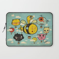 Happy Flight / The Animals Hot Air Balloon Voyagers / Patterns / Clouds Laptop Sleeve