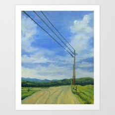 Vermont Backroad Art Print