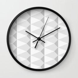 Swatchpattern White Rhombus Patterns Wall Clock