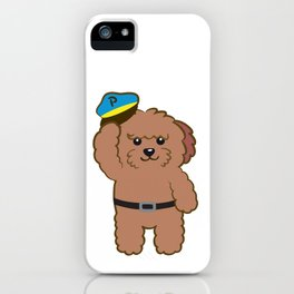Poodle Police iPhone Case