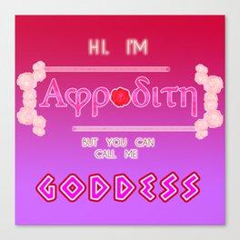 GODDESS OF LOVE - Aphrodite Canvas Print