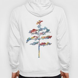 Pine tree #1 - multicoloured ink painting Hoody