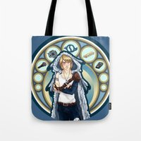 digimon Tote Bags featuring Digimon Cards: Matt by Dralamy