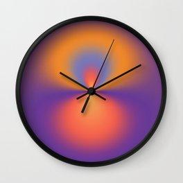The Purple Throw Wall Clock