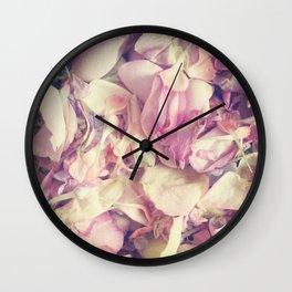Pastel petals Wall Clock