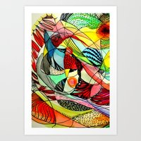 karma Art Prints featuring karma by sylvie demers