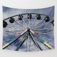 ferris wheel Wall Tapestries featuring Ferris Wheel by 100 Watt Photography