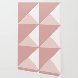 Trinity Color Block Pink Blush D9A6A1 Wallpaper