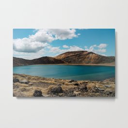 Lake on the mountain Metal Print