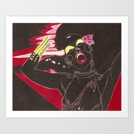 "Grace Jones. ""La vie en rose"" Art Print"
