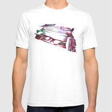 Mix Tape #9 Mens Fitted Tee MEDIUM White