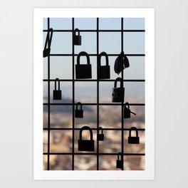 Locks in Florence Art Print