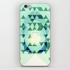 Green Tribomb iPhone Skin