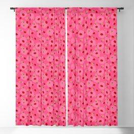Dot Ladybugs - Rouge & Taffy Pink Color Blackout Curtain