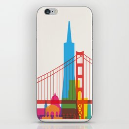Shapes of San Francisco. Accurate to scale iPhone Skin