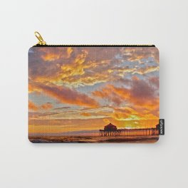 California Dreaming (cropped) ~ Huntington Beach Pier Carry-All Pouch