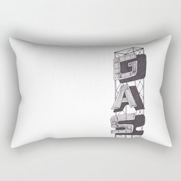 Gas Sign Rectangular Pillow