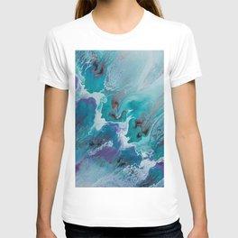 113 Teal Pulple   Abstract Artwork T-shirt