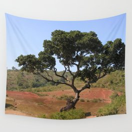 Lone Tree Indian Countryside Landscape, Odisha, India Wall Tapestry