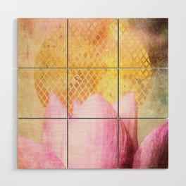 Lotus Sun Wood Wall Art