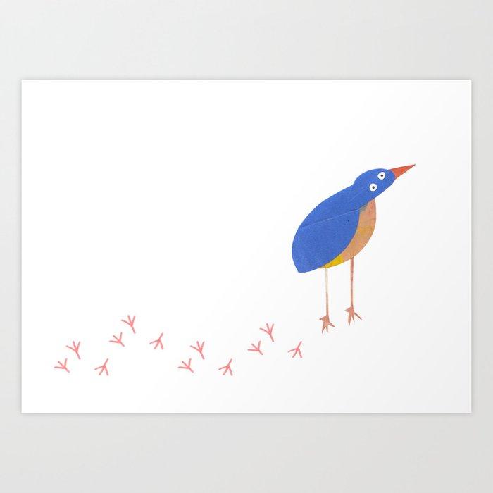 Bird leaving a trail Art Print