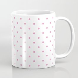 Small Hot Pink Polka dots Background Coffee Mug