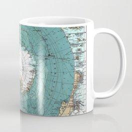 Antarctica Vintage map Coffee Mug