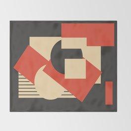 Geometrical abstract art deco mash-up Throw Blanket