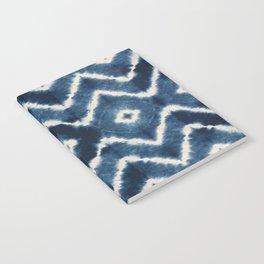 Shibori, tie dye, chevron print Notebook