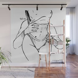 Touch and love Wall Mural