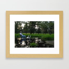 """Hanging out from the series """"How to Spend Your Summer"""" Contributor: ATK Framed Art Print"""