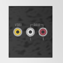 Plug in your mood! (Music + Video) Throw Blanket