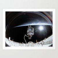 nasa Art Prints featuring NASA International Space Station by Planet Prints